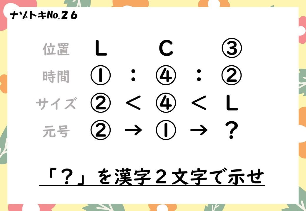 アルファベット謎