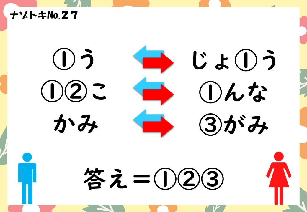 子供向け謎27